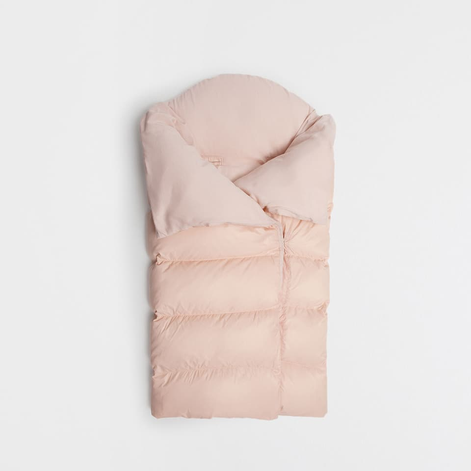 Pink down sleeping bag