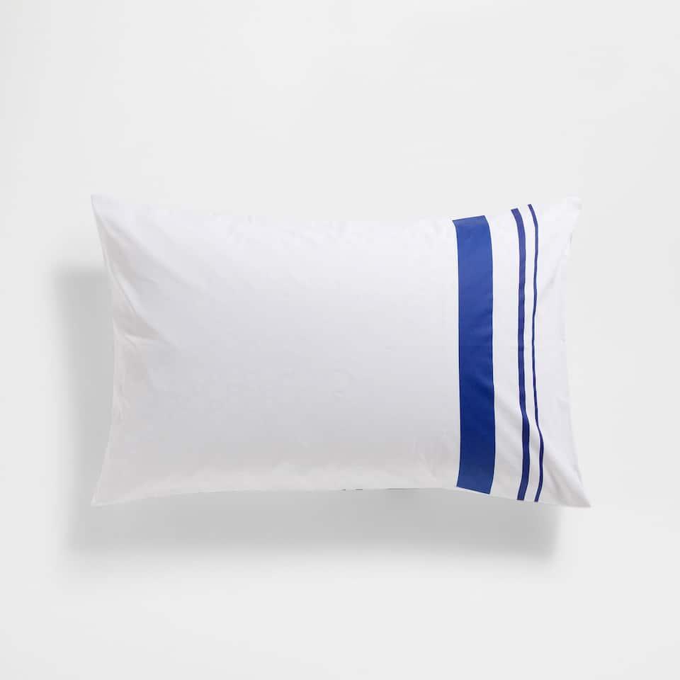 Blue Stripes Satin Pillow Case