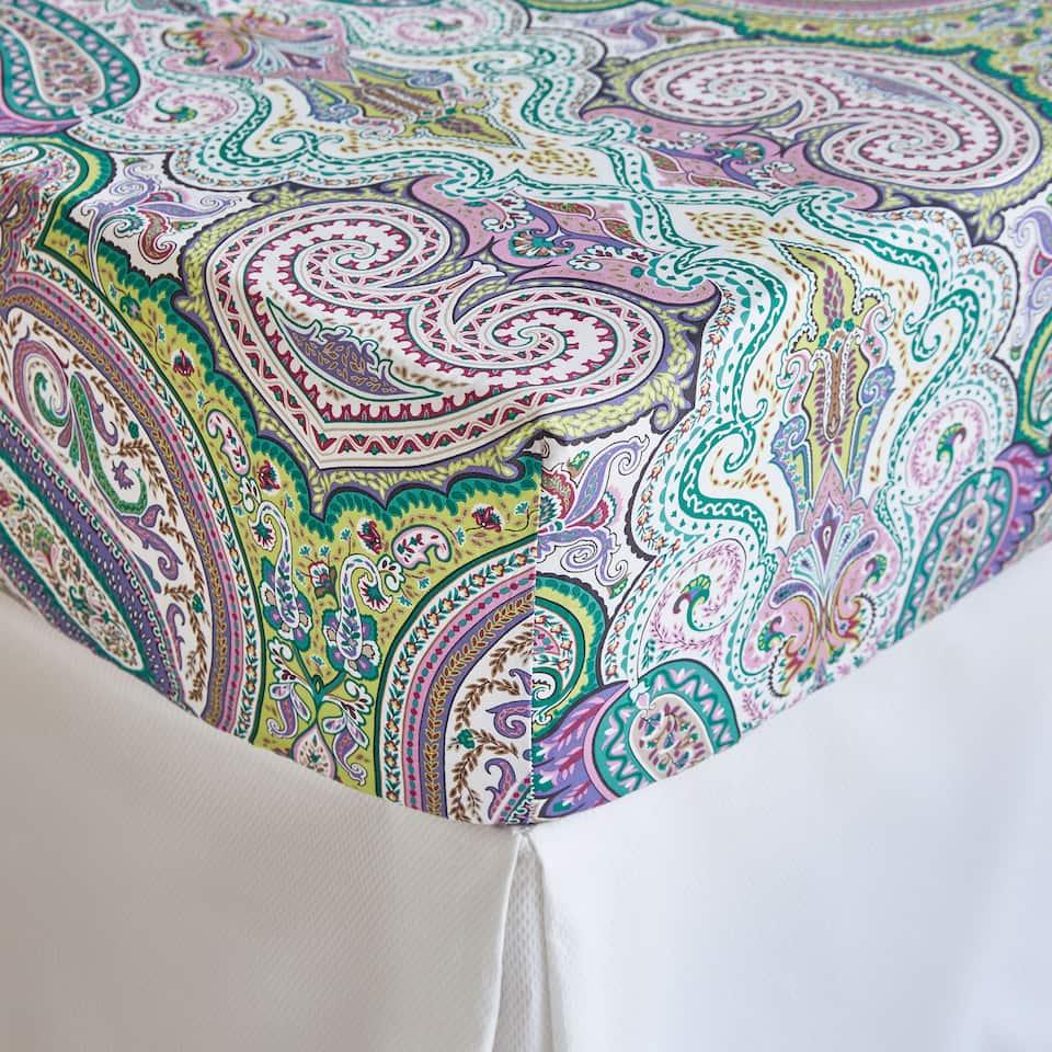 Multicoloured Paisley Print Bottom Sheet