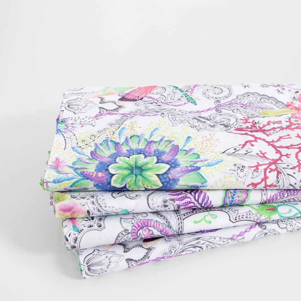 Paisley Print Percale Cotton Top Sheet