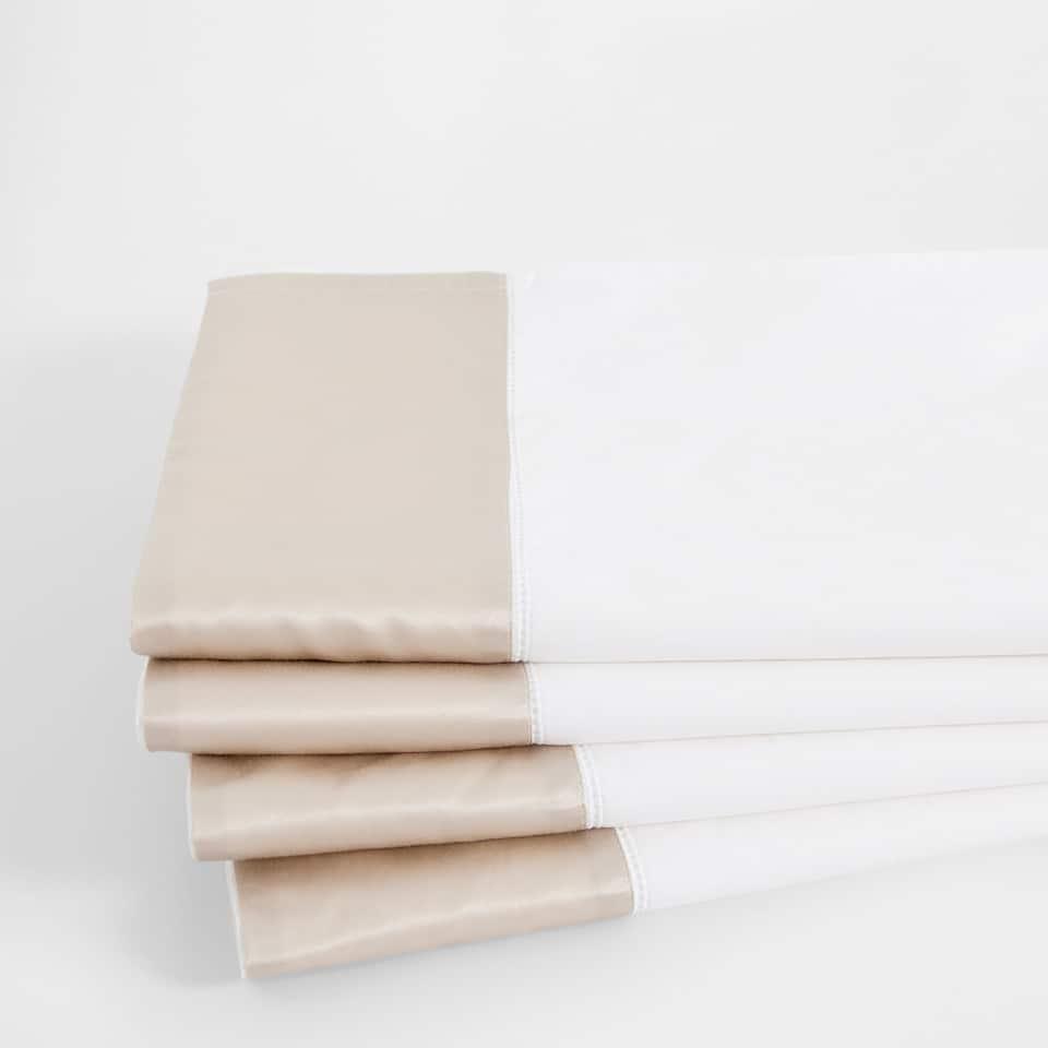 Contrasting Border Percale Cotton Top Sheet