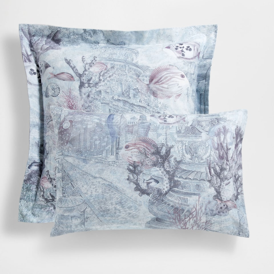 Seabed Print Cotton Pillow Case
