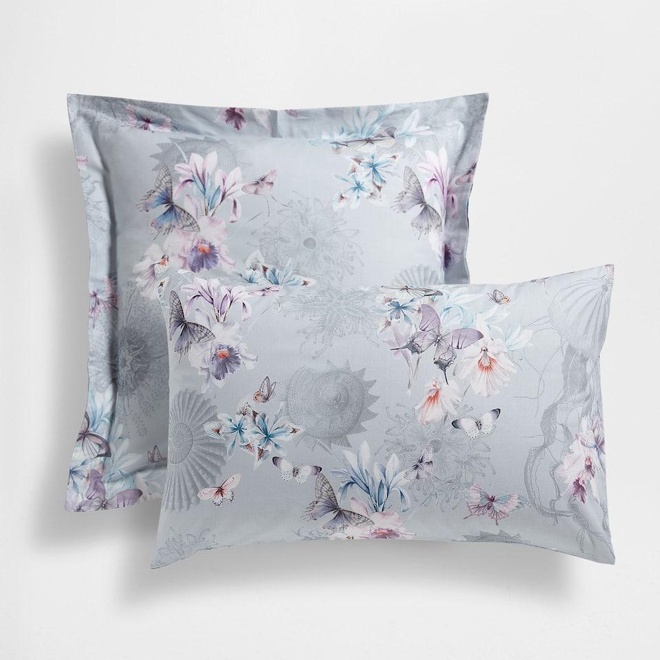 Floral Digital Print Cotton Pillow Case