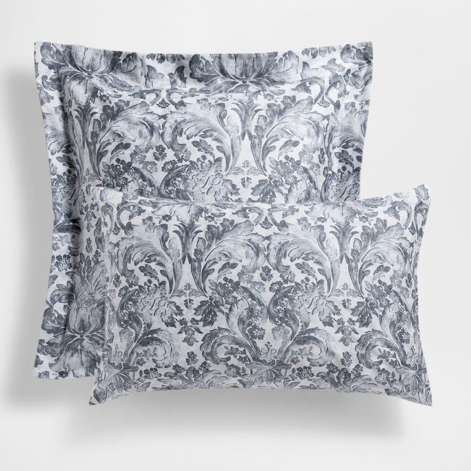 Damask Print Satin Pillow Case