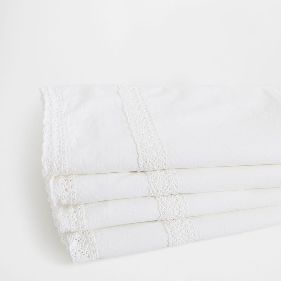 Washed Ribbons Percale Cotton Top Sheet