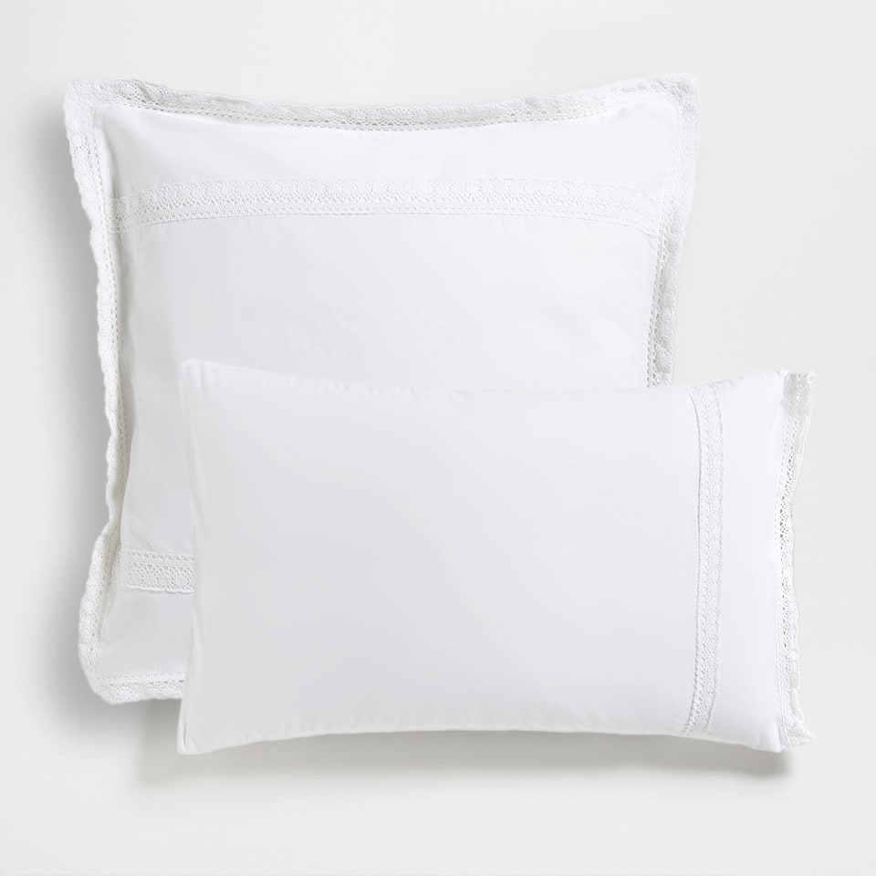 Washed Ribbons Percale Cotton Pillow Case
