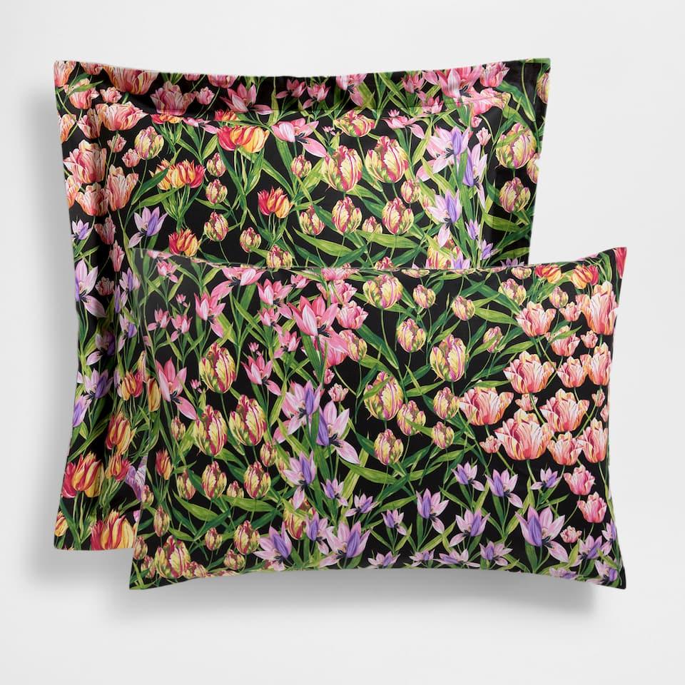 Tulip Print Pillow Case