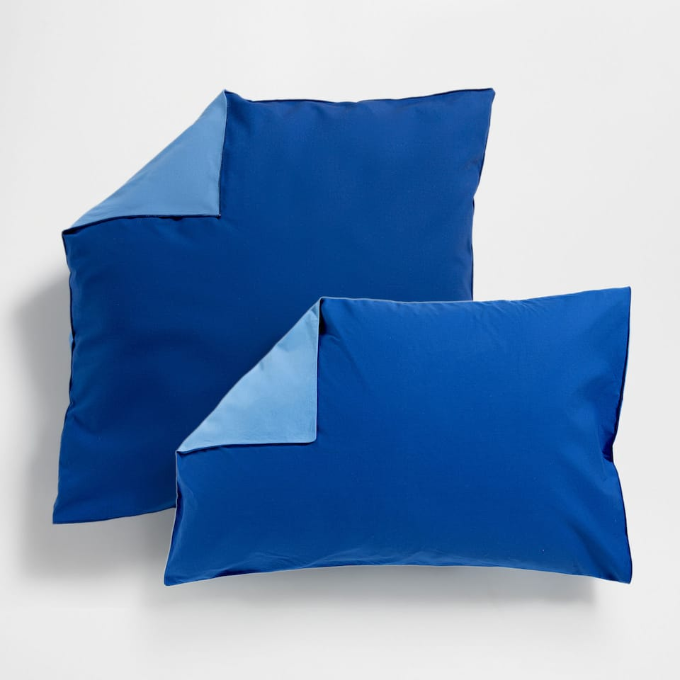 Two-tone Washed Percale Pillow Case