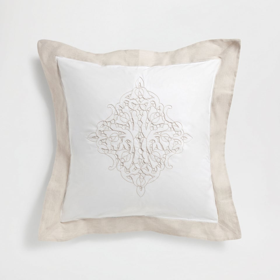 Openwork Embroidered Percale Cotton Pillow Case