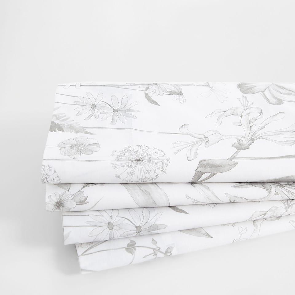 Rustic Floral Print Top Sheet