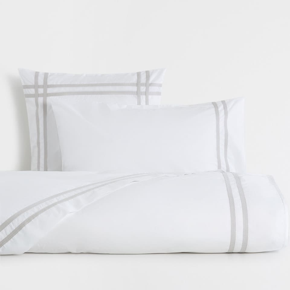 Ribbons Washed Percale Cotton Duvet Cover