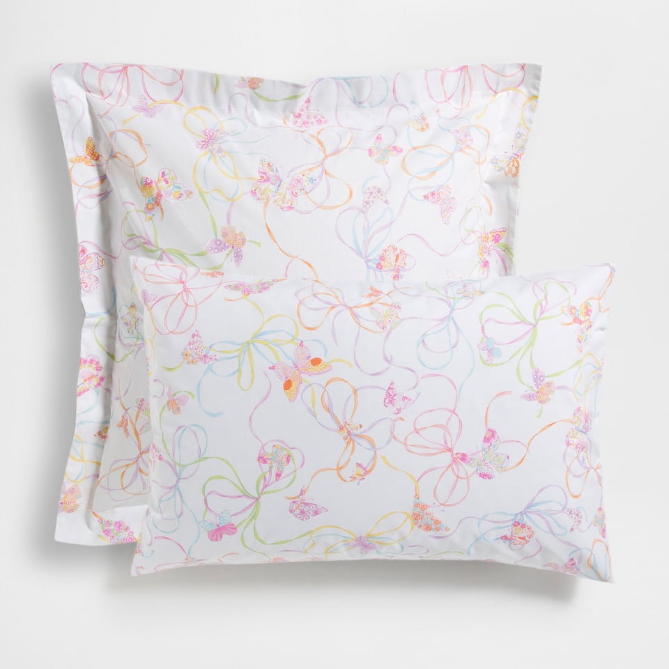 Butterflies and Bows Print Pillow Case