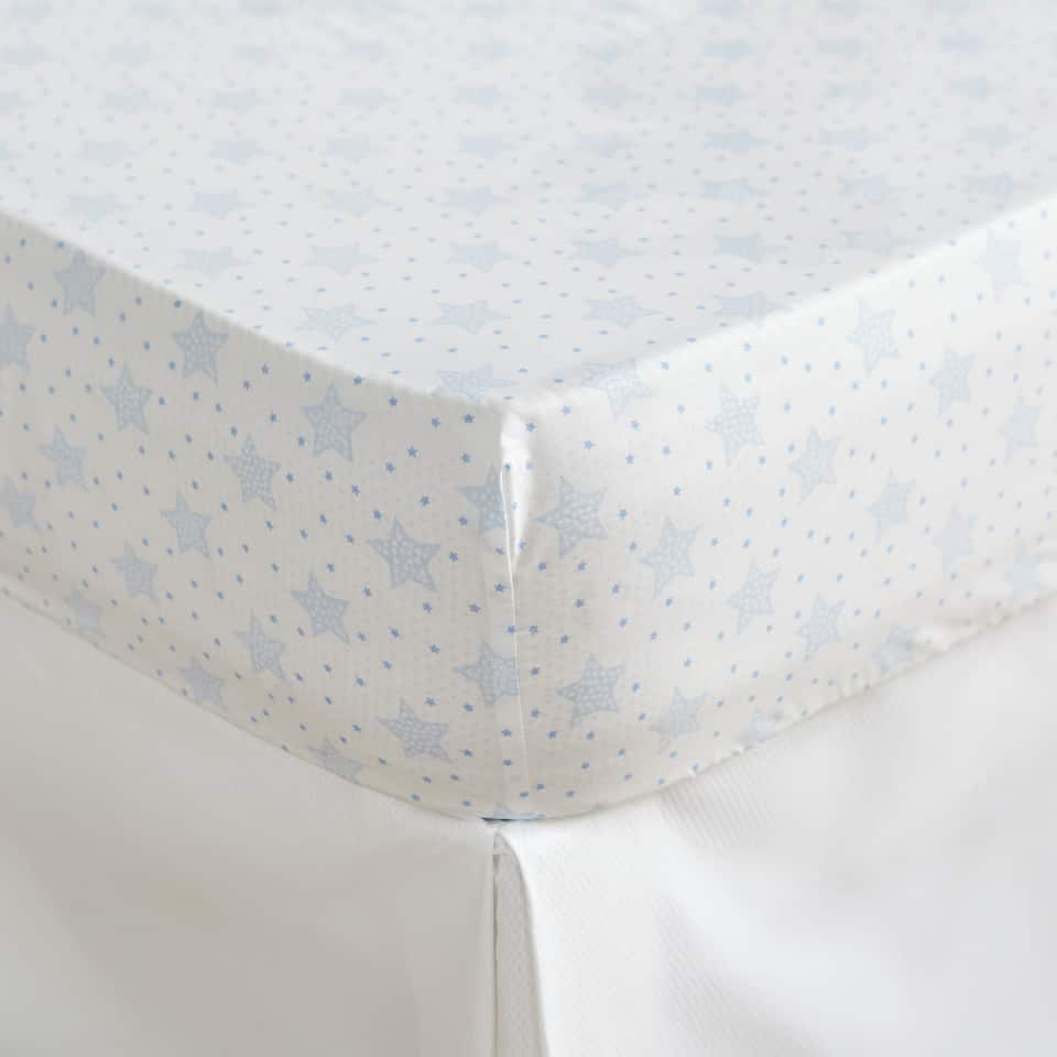 Blue Star Percale Cotton Bottom Sheet