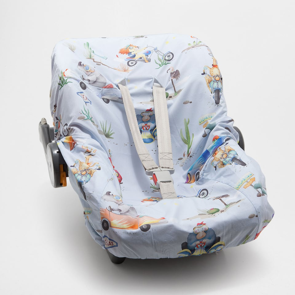 Character print percale cotton baby carrier cover