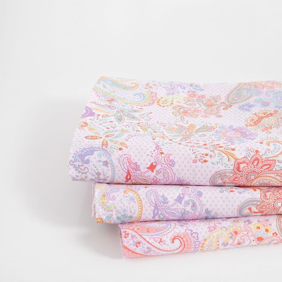 Paisley Print Cotton Top Sheet