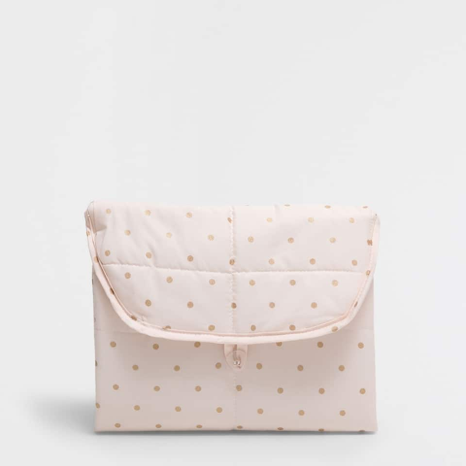 Polka dot print percale cotton changing mat