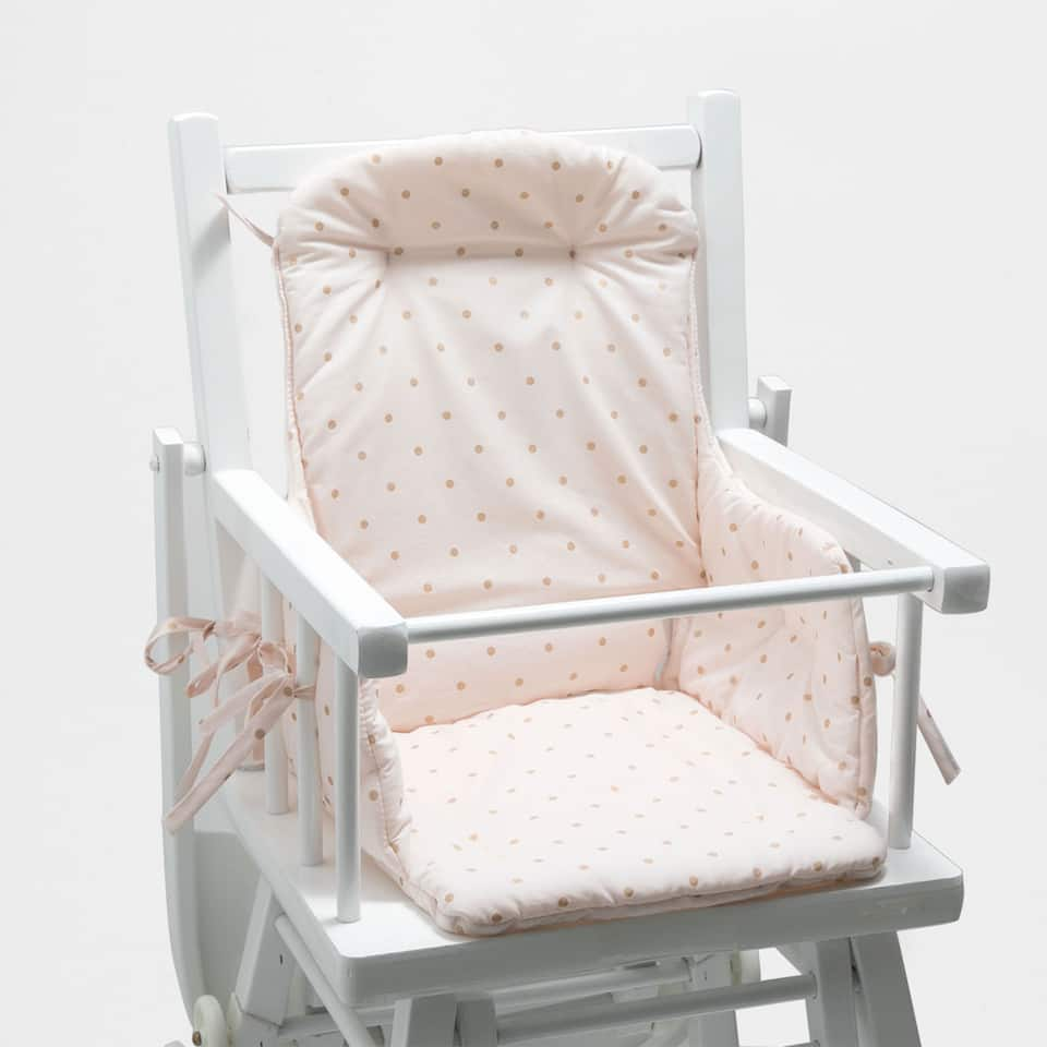 Cloud print percale cotton high chair cushion