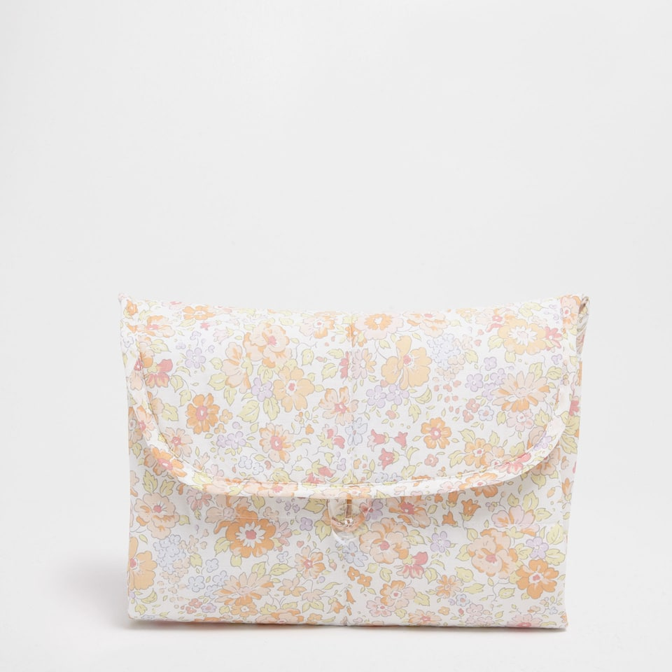 Floral print percale cotton changing mat