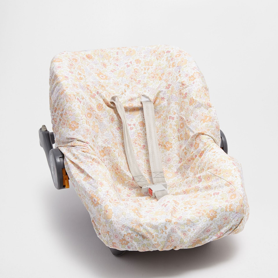 Floral print percale cotton baby carrier cover