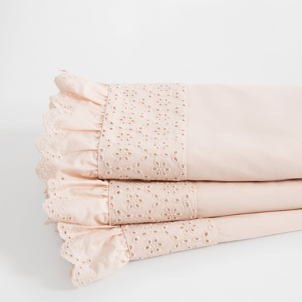 Frilled Percale Cotton Top Sheet