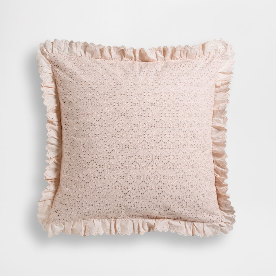 Frilled Percale Cotton Pillow Case