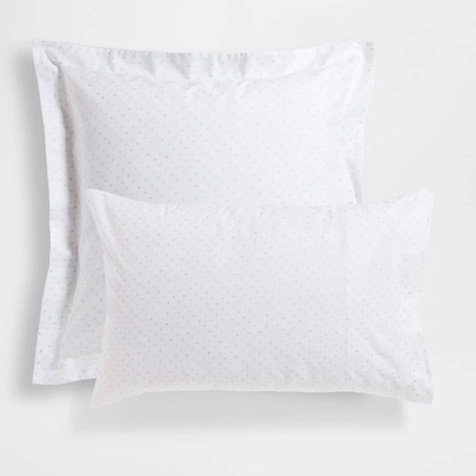 Two-tone Star Percale Cotton Pillow Case