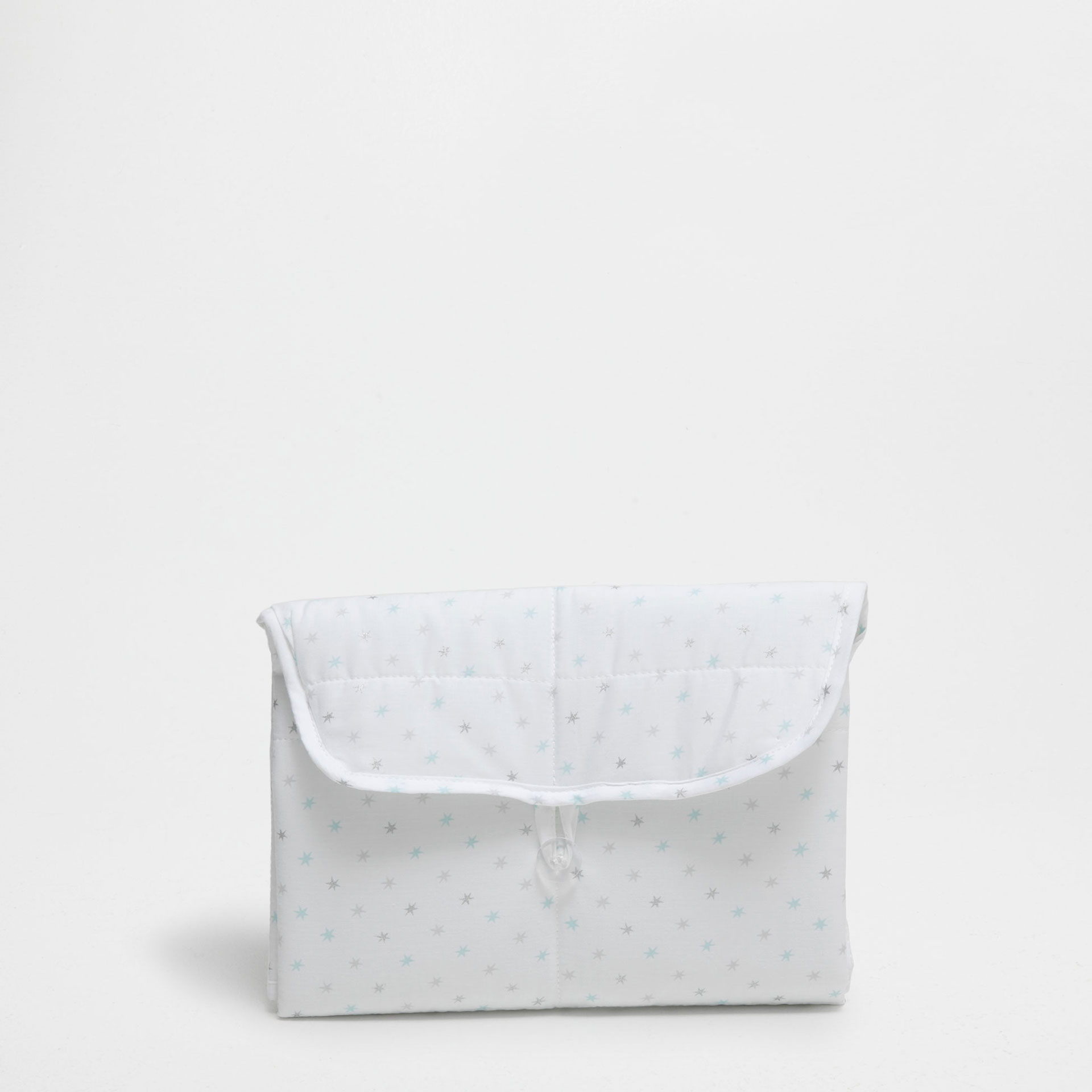 Star print percale cotton changing mat