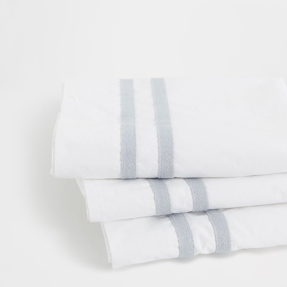 Ribbons Washed Percale Cotton Top Sheet