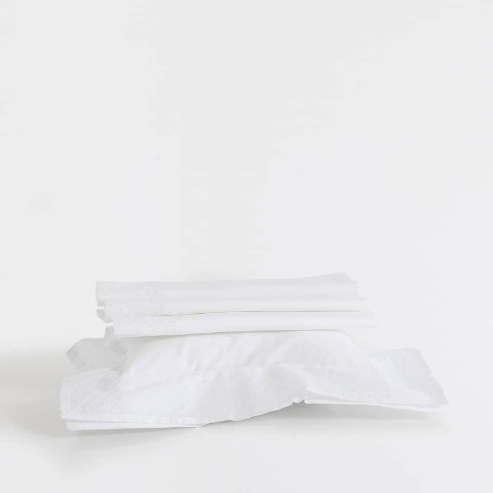 Embroidered percale cotton Moses basket and mini cot set