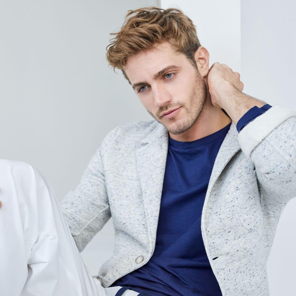 Blazer-fit cotton jacket