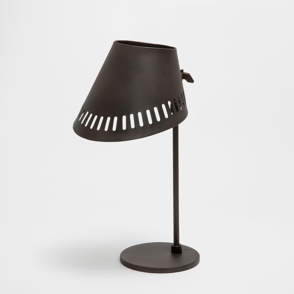 Black iron lamp
