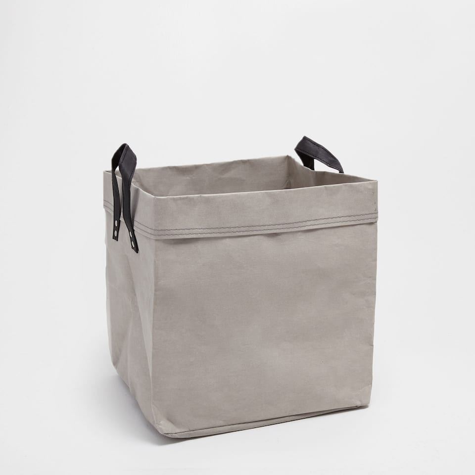 Light grey clothes basket