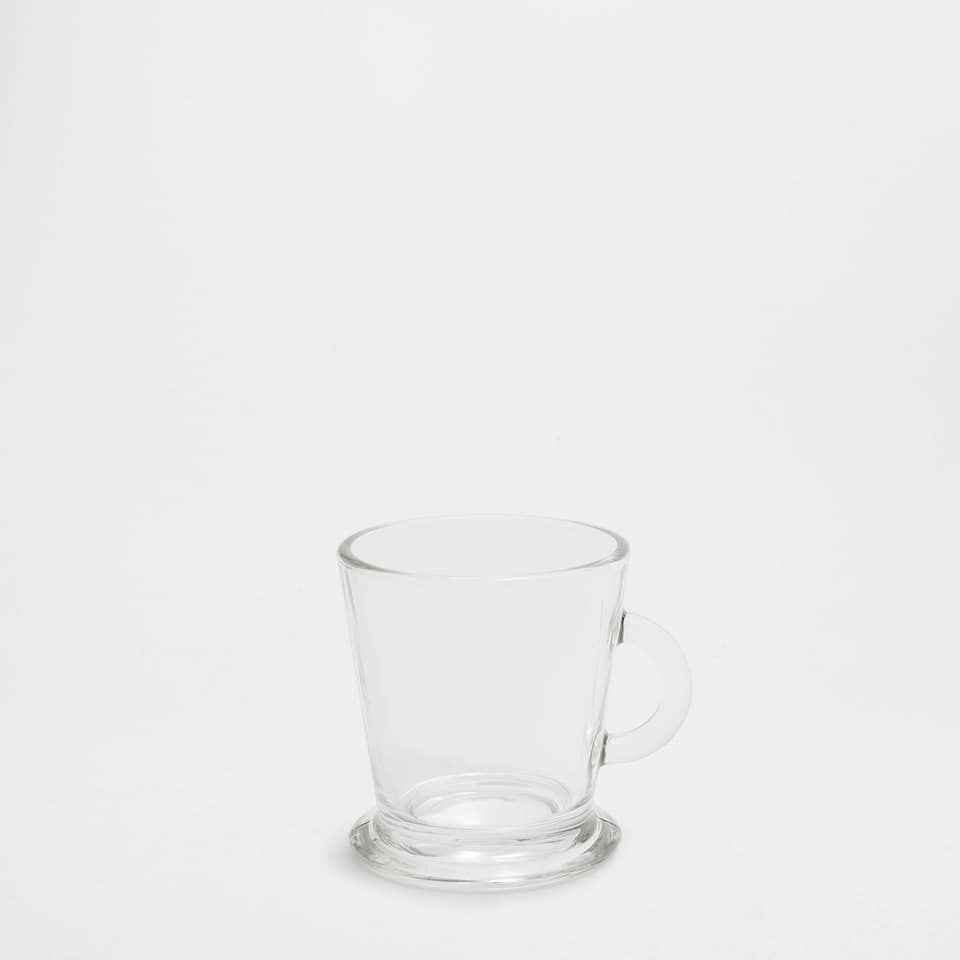 Transparent glass cappuccino cup