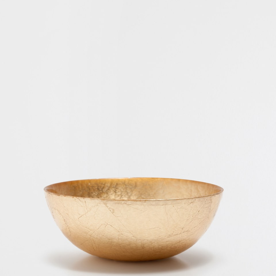 Small golden salad bowl