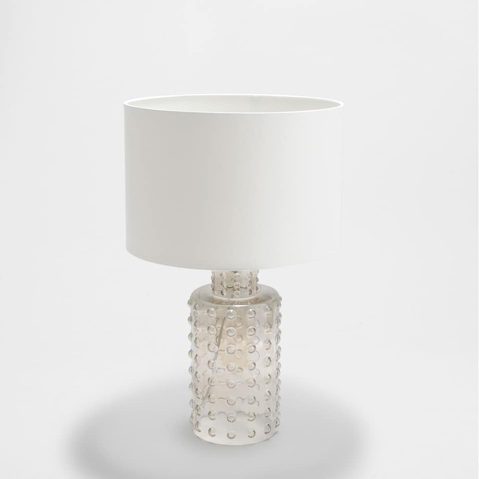 Cylindrical lamp with balls