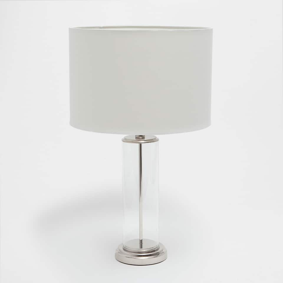 Lamp with a hollow cylindrical base