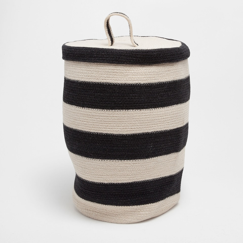 Zigzag pattern clothes basket