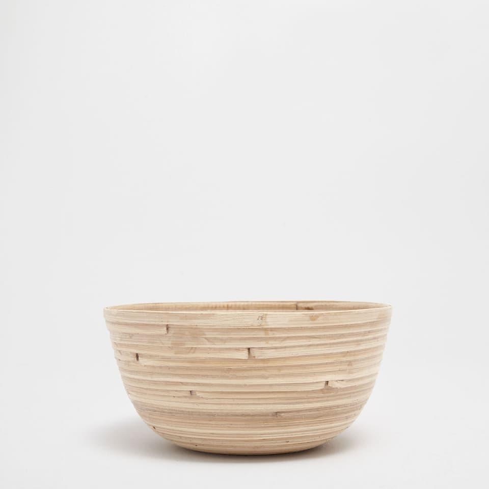 Natural-coloured small bamboo basket