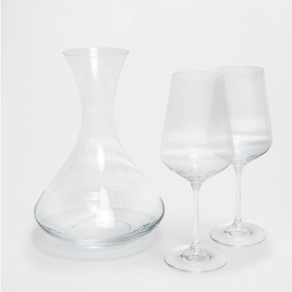 SET DECANTER E 2 CALICI VINO