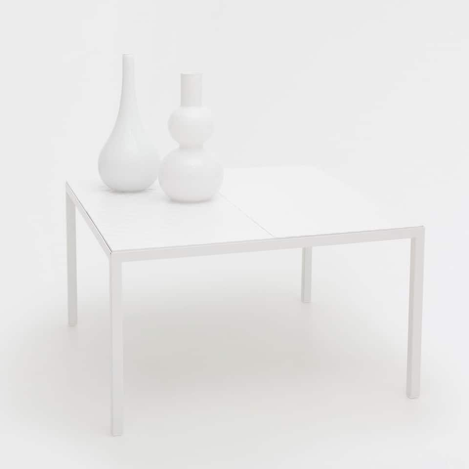 White table with a raised design