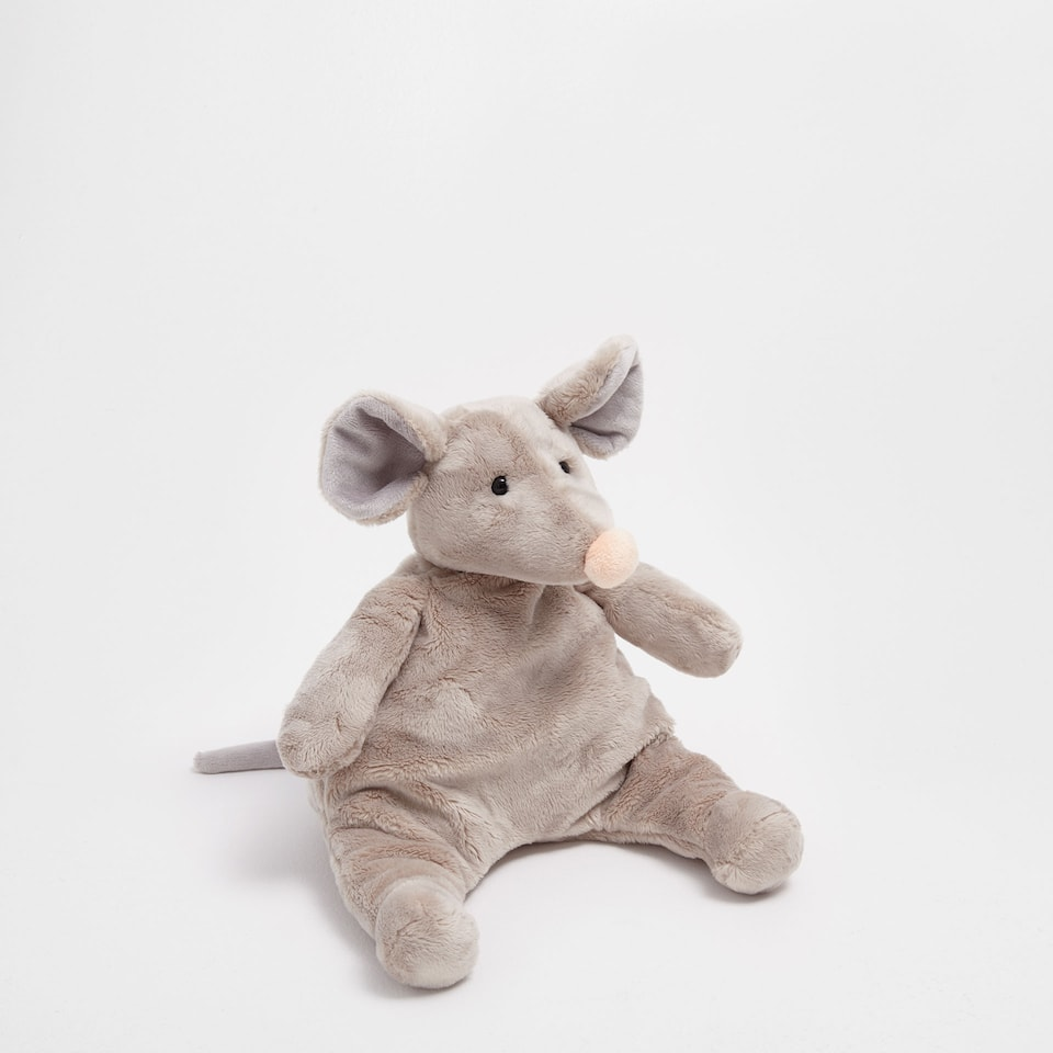 Beige mouse soft toy