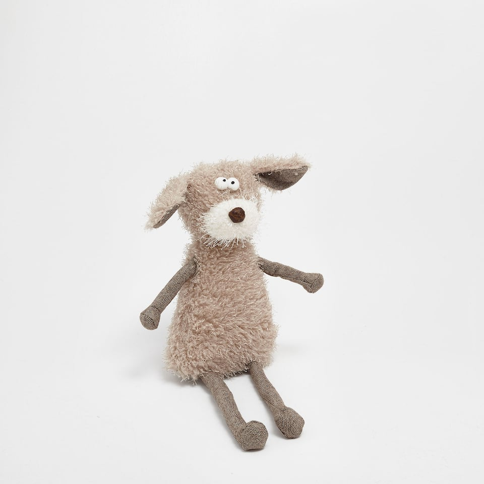 Long-legged dog soft toy