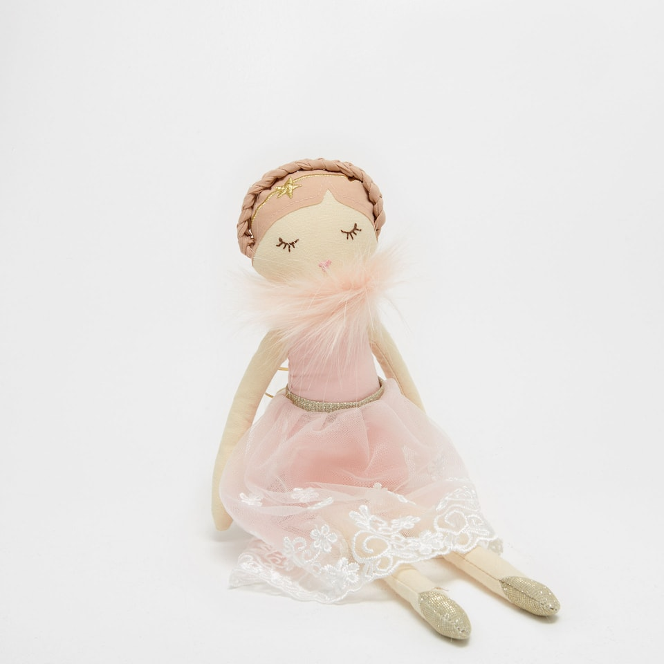 Ballerina with a braid soft toy
