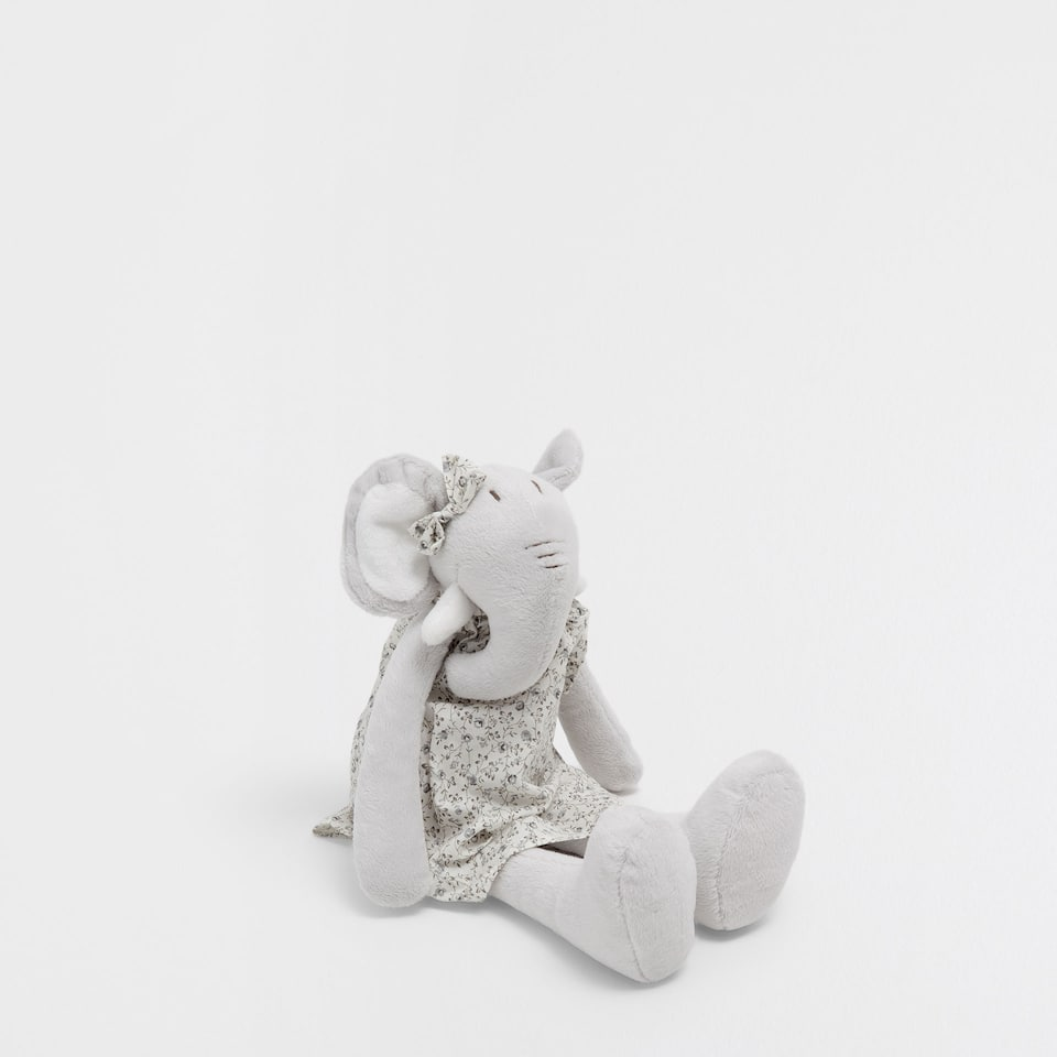 Elephant in a dress soft toy