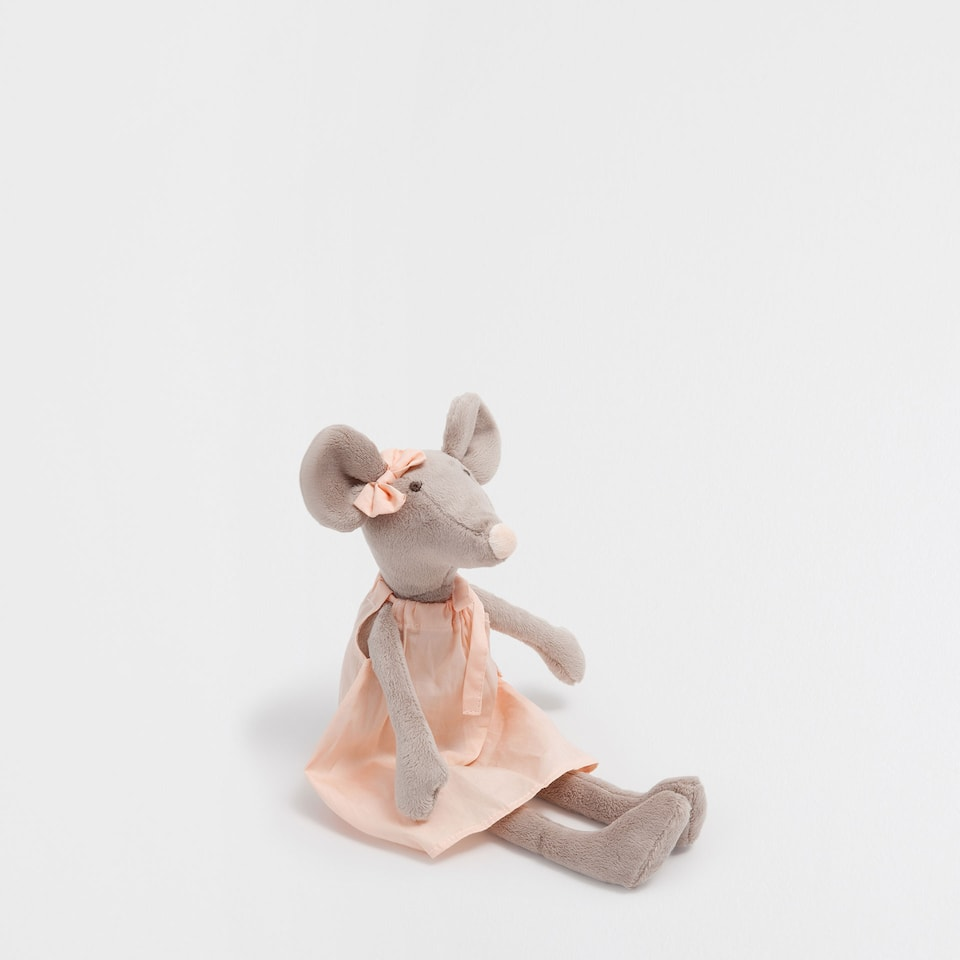 Mouse soft toy with dress