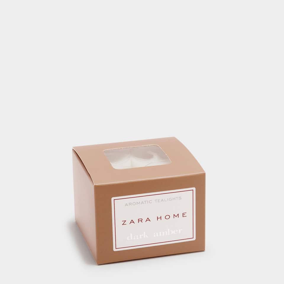 Dark Amber Tealight (Pack of 12)