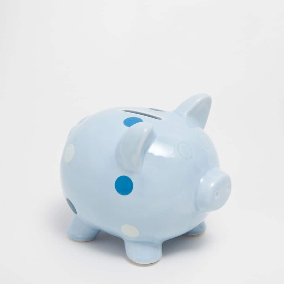Polka-dot piggy bank