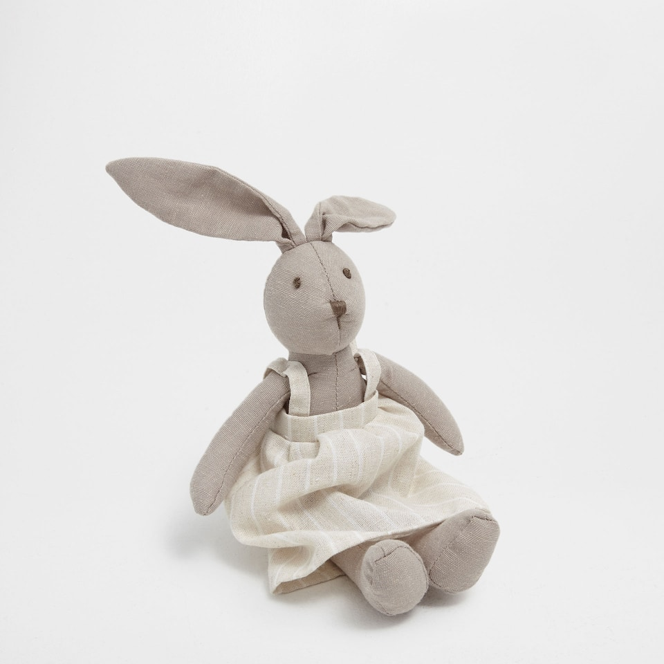 Girl bunny soft toy