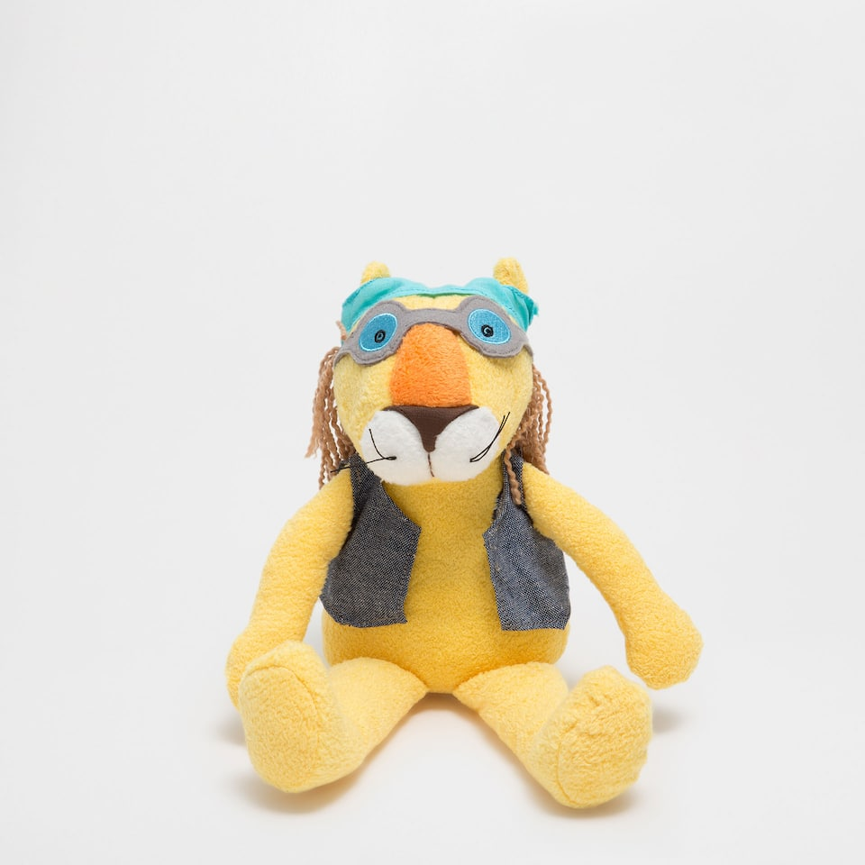 Colourful lion soft toy