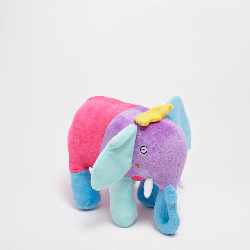Colourful elephant soft toy